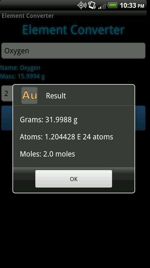 Element Converter- screenshot