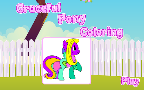 Coloring Graceful Pony