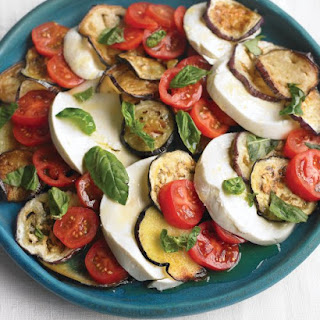 Eggplant, Tomato, and Mozzarella Salad.