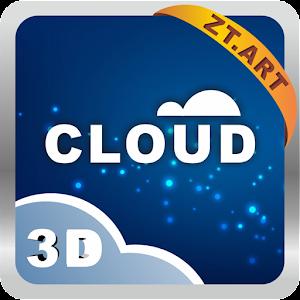 雲の3DのテーマGOランチャーEX