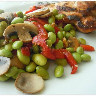 Mushrooms and Edamame Salad.