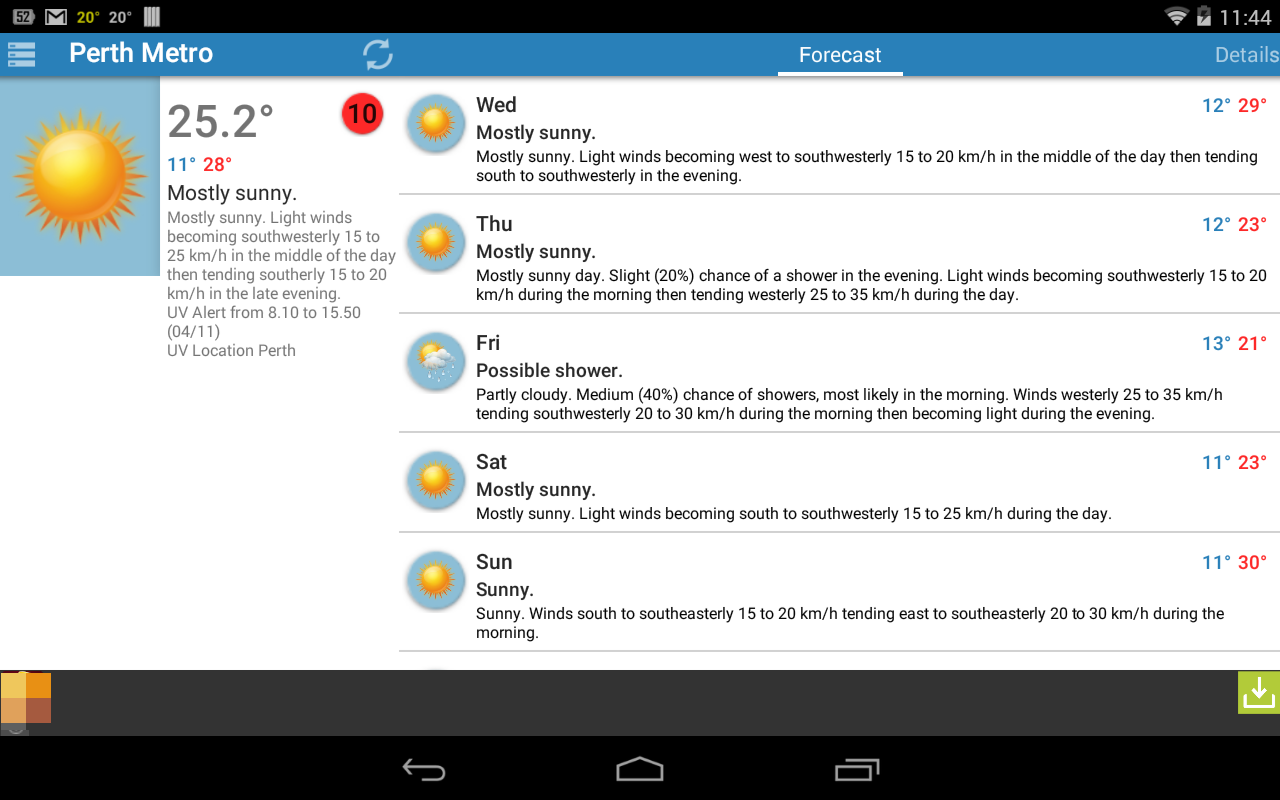 Au Weather Free - screenshot