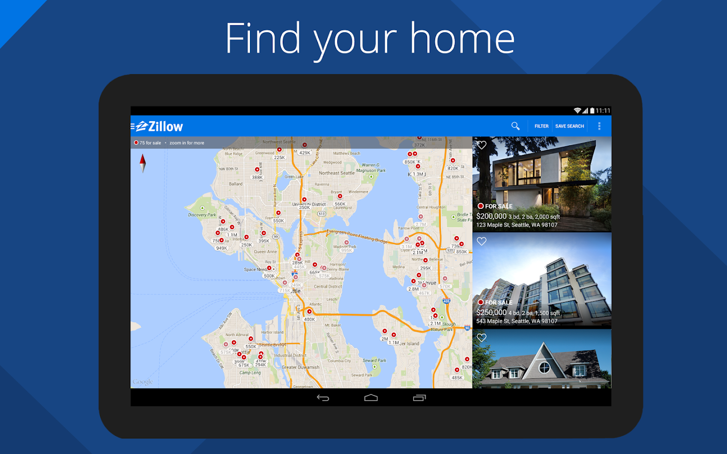 Find your home: Zillow Real Estate & Rentals Updated at January 21,2015