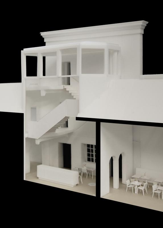 Maquette Joristrap en museumcafé