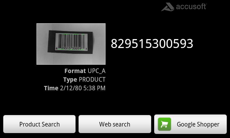 Accusoft Barcode Scanner - screenshot