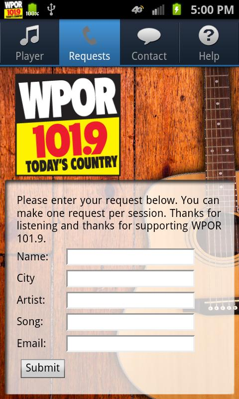 WPOR 101.9 - screenshot