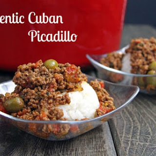 Authentic Cuban Picadillo.