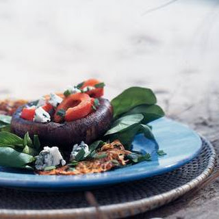 Zoete Aardappelrösti Met Geroosterde Portobello