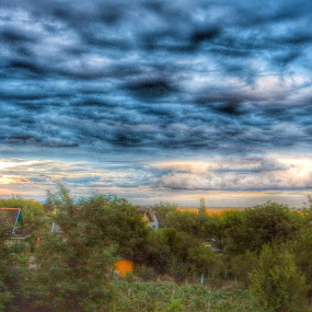 Clouds Before Rain by Nat Bolfan-Stosic - Landscapes Cloud Formations ( clouds, blue, before, storm, rain,  )