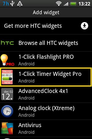 Timer Widget Pro- screenshot