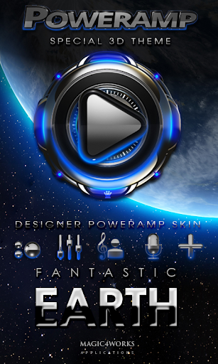 Poweramp skin Earth
