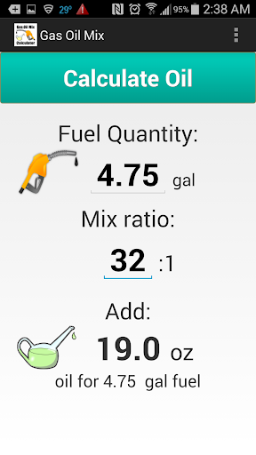 Gas Oil Mix Calculator
