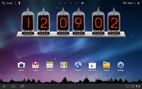 Nixie Time & Battery Widget v[build 6]