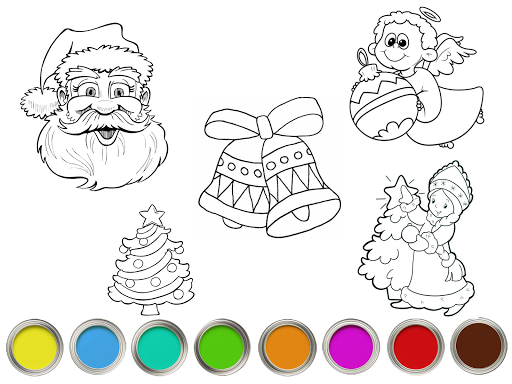 Christmas сoloring book Paint