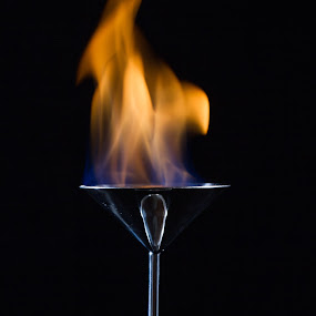 Uncanney by Justin Quinn - Food & Drink Alcohol & Drinks ( alcohol, drink, light, fire, flame )