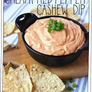 Creamy Red Pepper Cashew Dip