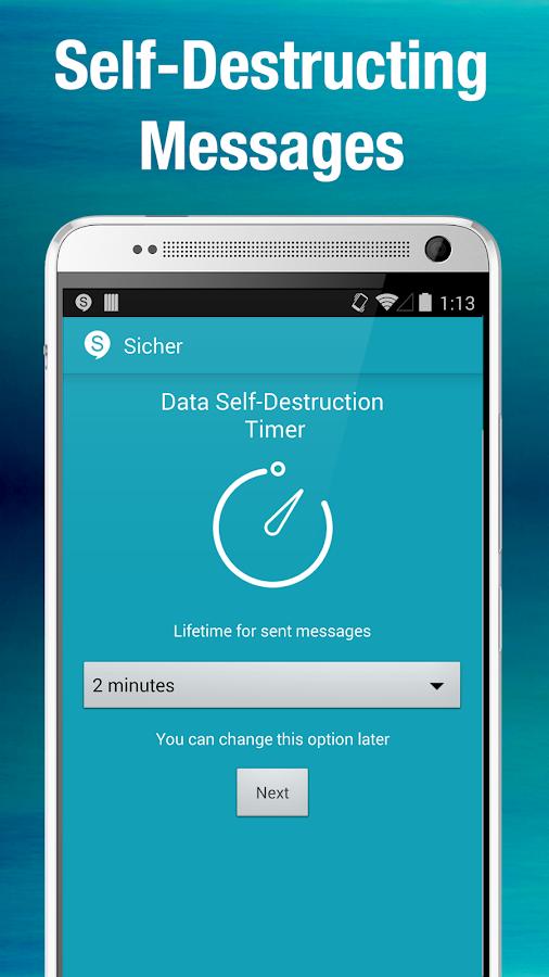 Sicher - screenshot