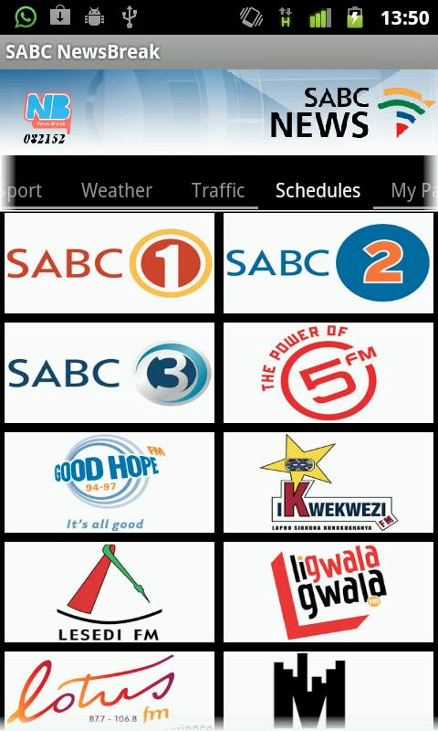 SABC NewsBreak - screenshot