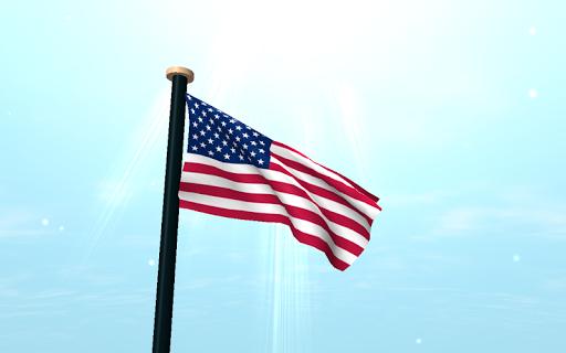 【免費個人化App】美國旗3D動態桌布-APP點子