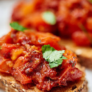 Sun Dried and Roma Tomato Bruschetta