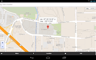 Screenshot of GPS Coordinates Finder