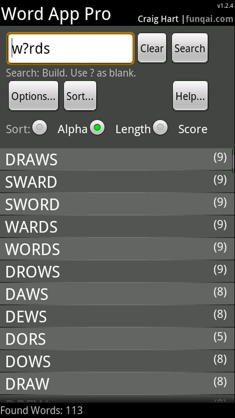 Word App- screenshot