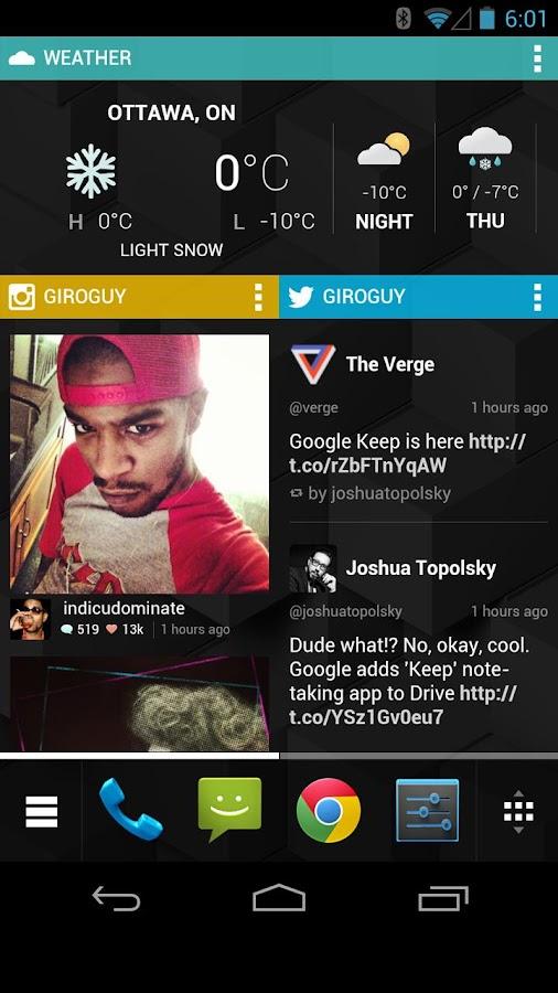 Chameleon Launcher for Phones - screenshot