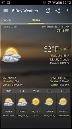 Weather & Clock Widget Android 5.0.1.2 screenshot 960