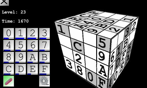 Sudoku 3D Lite - 4x4 Cube