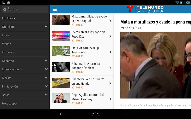 Telemundo Arizona- screenshot