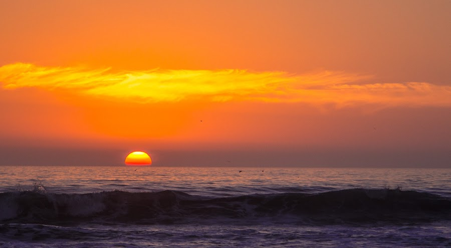 Oceanside, CA by Tntp45 - Landscapes Sunsets & Sunrises ( sunset tntp45 oceanside clouds orange san diego waves )