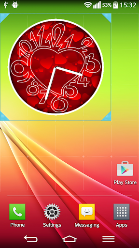 紅色的心 時鐘