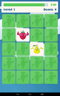 水果為孩子們的記憶遊戲