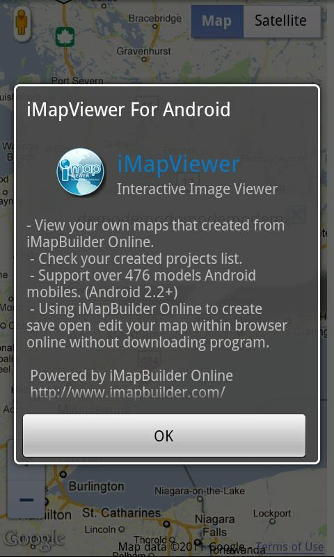 i-Map Viewer for Android - 螢幕擷取畫面