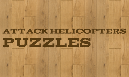 Attack helicopters Puzzles