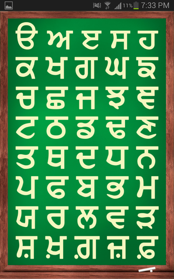 punjabi alphabets chart with hindi pdf