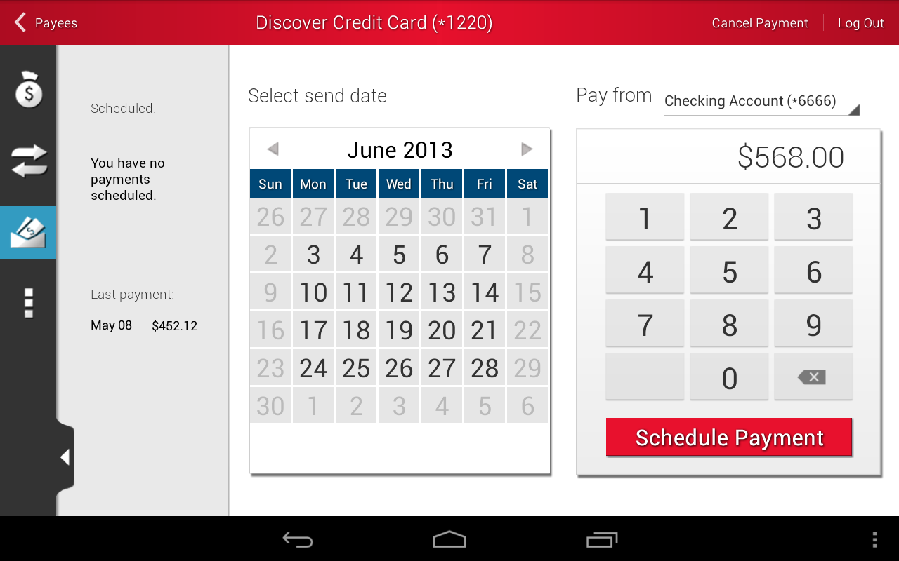 RIAFCU Mobile Banking - screenshot