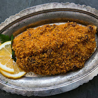 Baked Tilapia with Sun-dried Tomato Parmesan Crust.