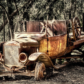 Once Upon A Time by Linh Tat - Transportation Automobiles ( old, truck, automobile, ford, antique, abandoned )
