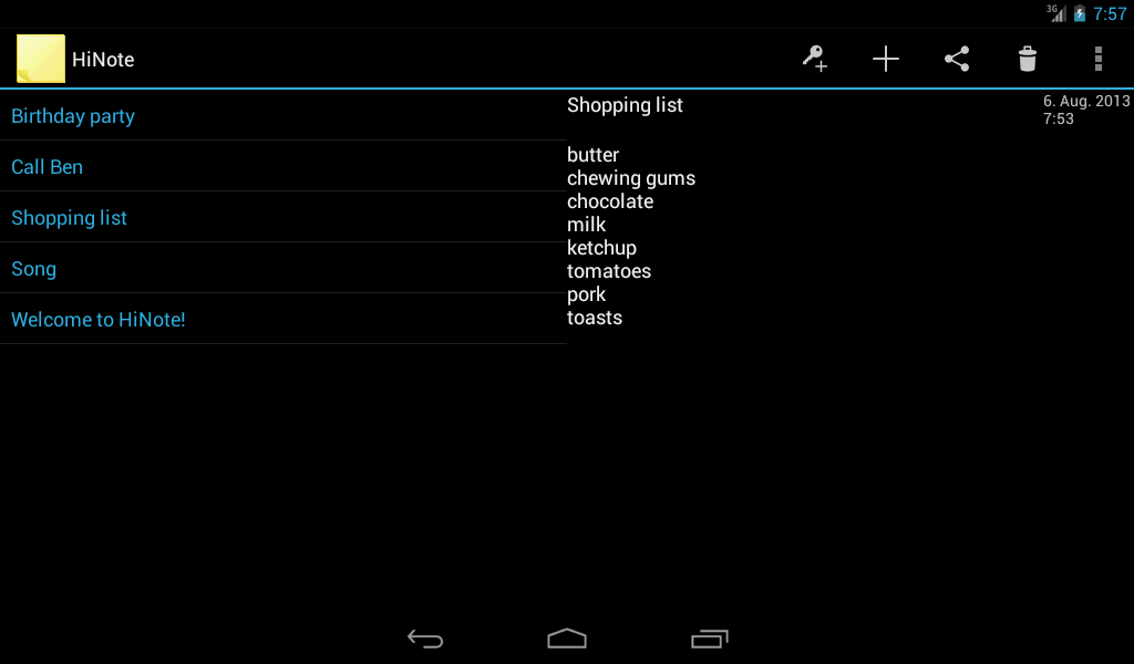 HiNote Hidden Notes- screenshot