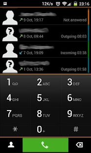Black exDialer- screenshot thumbnail