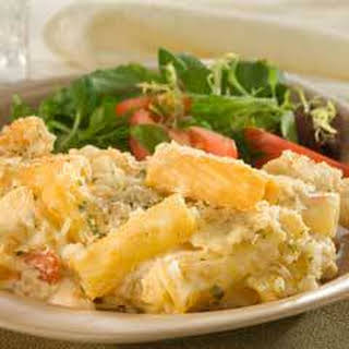 Oven-baked Four Cheese Rigatoni Rosa.