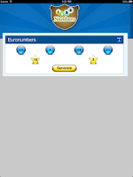 Screenshot of Lottery Generator