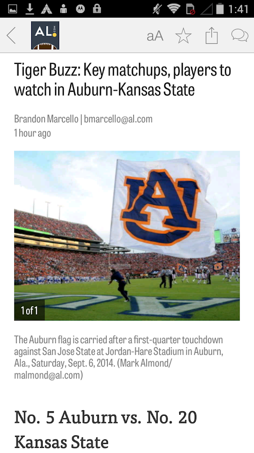 AL.com: Auburn Football News- screenshot