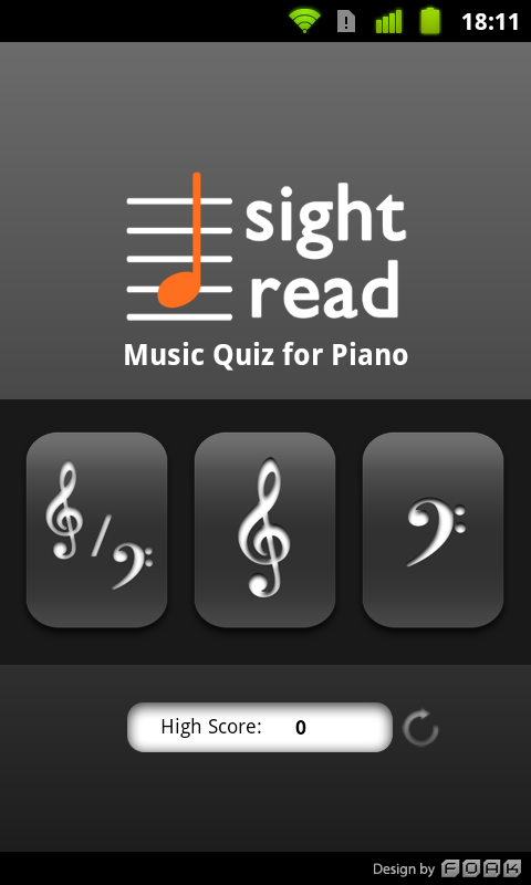 Sight Read Music Quiz 4 Piano- screenshot