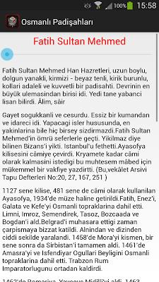 Osmanlı Padişahları - screenshot