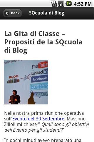 SQcuola di Blog- screenshot