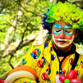 The Clown by Andreea Marchidan - People Professional People ( color, clown, balloons )
