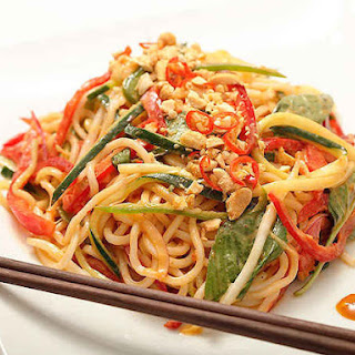 Peanut Butter Spicy Noodles.
