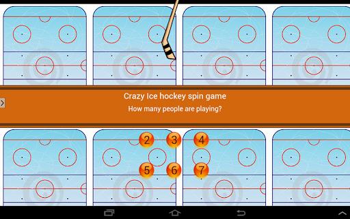 Crazy Ice hockey stick spin